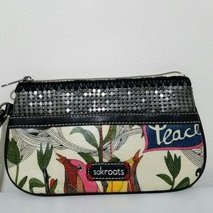 Sakroots Bags - Sakroots Peace Wristlet Wallet Pouch Zip Clutch